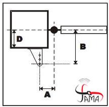 فاصله استاندارد نصب جک